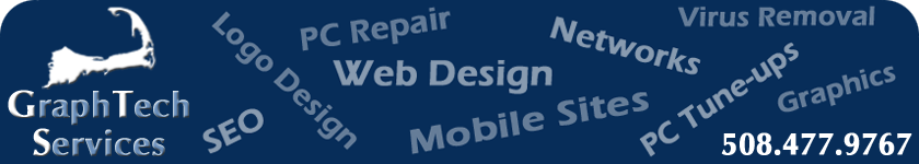 GraphTech Services - Cape Cod Web Design, PC Repair, Logo Design, Networks, Virus Removal